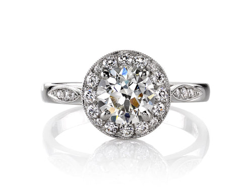 "Platinum and Diamond ""Robin"" Engagement Ring"