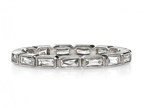 "Platinum and Diamond ""Julia"" Wedding Band"