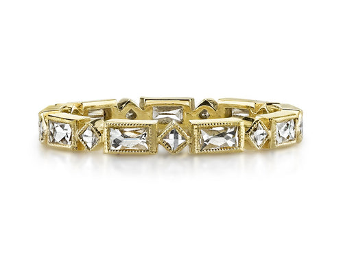"18K Yellow Gold and Diamond ""Madeline"" Wedding Ring"