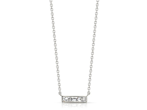 Single Stone diamond Bar necklace at the Best Jewelry Store in Washington DC