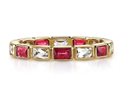 "18K Yellow Gold and Ruby ""Julia"" Wedding Band"
