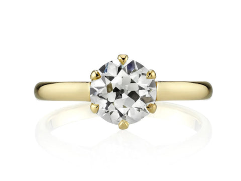 "18K Yellow Gold and Diamond ""Evergreen"" Engagement Ring"