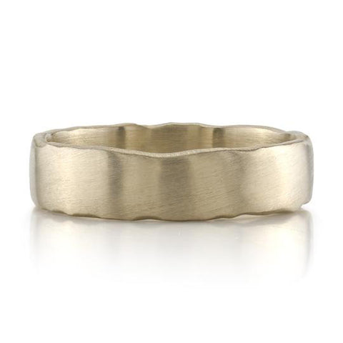 Yellow Gold and Stainless Steel Men's Wedding Band