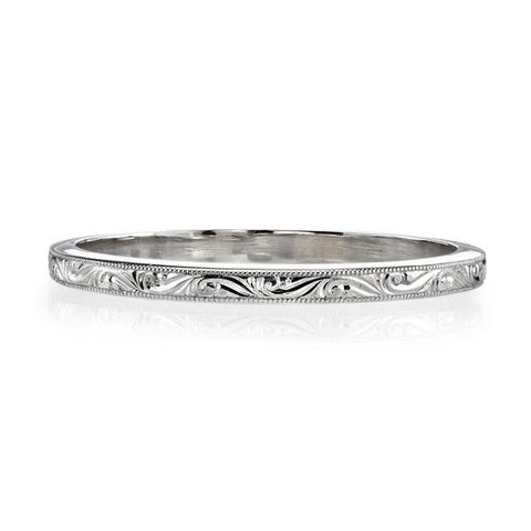 "Platinum and Diamond ""Addie"" Wedding Band"