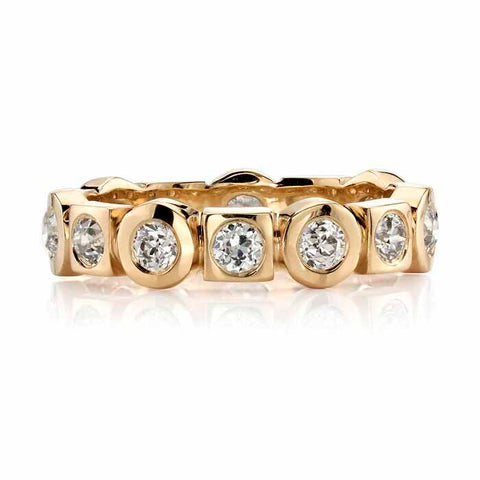 18K Yellow Gold and Diamond Solitaire Engagement Ring