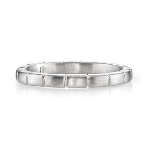 Palladium and Oxidized Sterling Silver Men's Wedding Ring