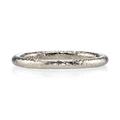 Textured Platinum Wedding Band