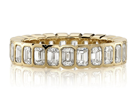 Inverted Diamond Channel Wedding Band