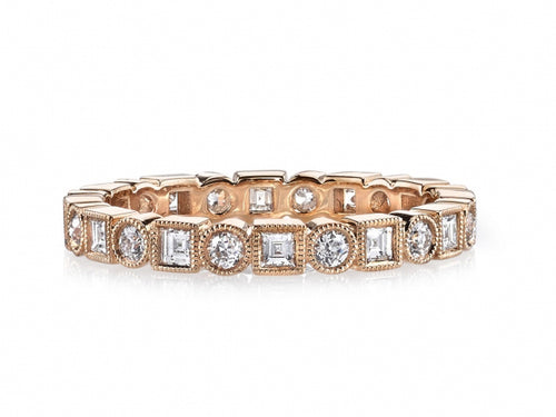 "18K Rose Gold and Diamond ""Addie"" Wedding Band"