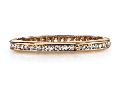"18K Rose Gold and Diamond ""Madison"" Wedding Band"