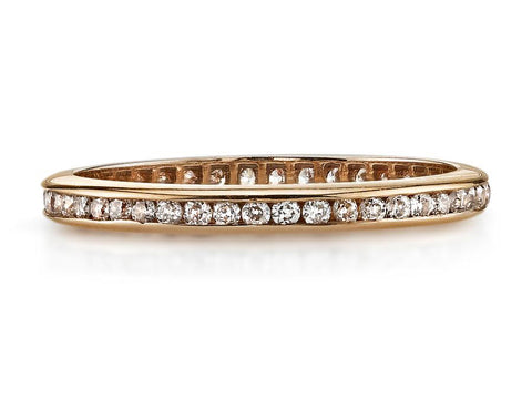 "Platinum and Diamond ""Gabby"" Wedding Ring"