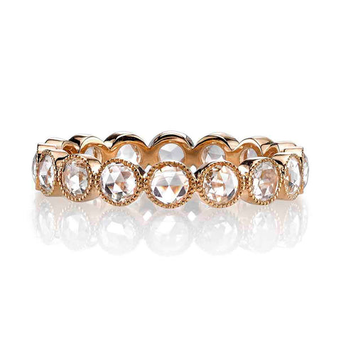 "14K Rose Gold and Pear Diamond ""Eliza"" Wedding Band"