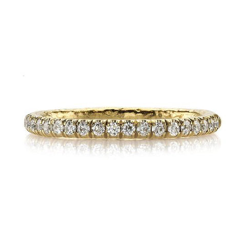Vintage-Inspired Pavé Diamond Wedding Band in White Gold