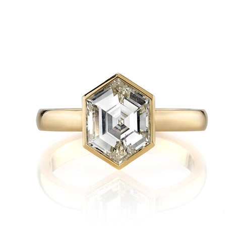 "Hexagonal Diamond ""Wyler"" Engagement Ring"