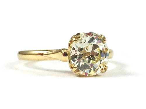 "18K Yellow Gold and Diamond Solitaire ""Sydnee"" Engagement Ring"