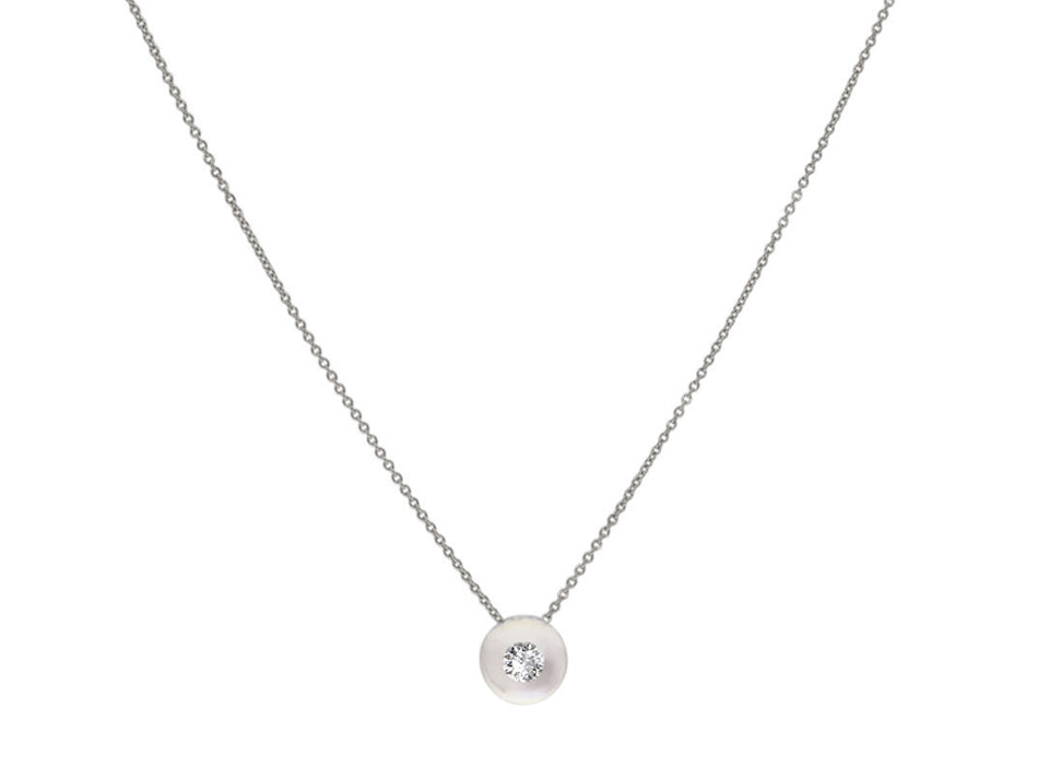 Schmuckwerk Glass Ball and Diamond Necklace