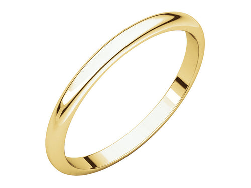 Simple Yellow Gold Band at the Best Jewelry Store in Washington DC
