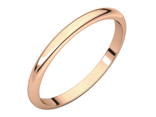 Simple Rose Gold Wedding Band at the Best Jewelry Store in Washington DC