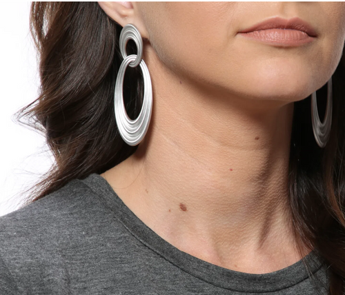 "Sterling Silver ""Órbita"" Earrings"