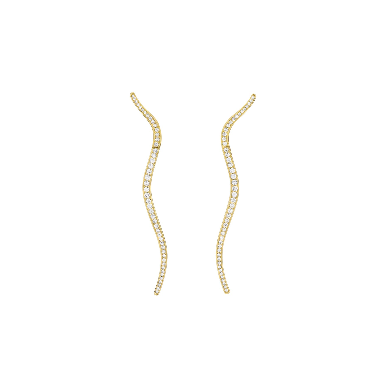 "18K Yellow Gold and Diamond ""Frisson"" Earrings"