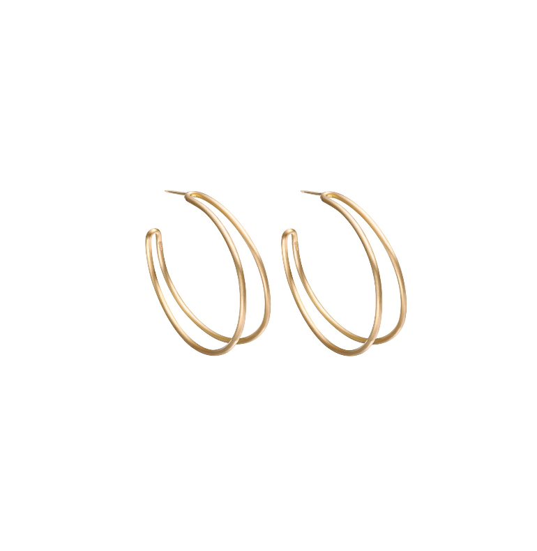 "Gold ""Vinculo"" Hoop Earrings"