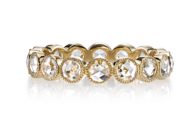 "18K Yellow Gold and Diamond ""Gabby"" Wedding Band"