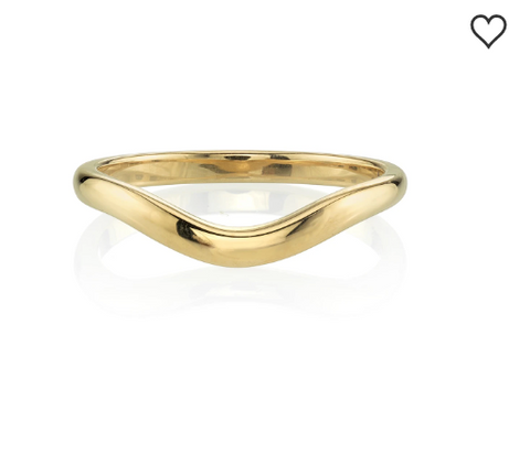 "Vintage-Inspired Diamond ""Gabby"" Wedding Band in Yellow Gold"