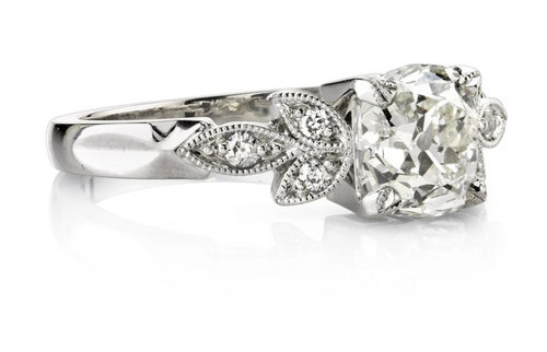"Platinum and Diamond ""Annabelle"" Engagement Ring"