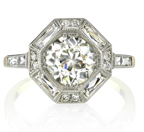 "Vintage-Inspired Diamond ""Hartley"" Engagement Ring"