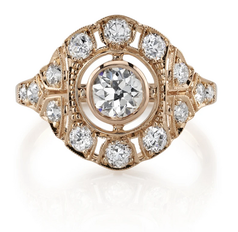 "18K Yellow Gold and Diamond ""Shanna"" Engagement Ring"