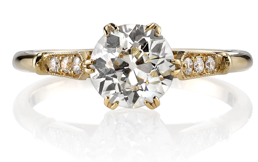 "Round Diamond Solitaire ""Carmen"" Engagement Ring"