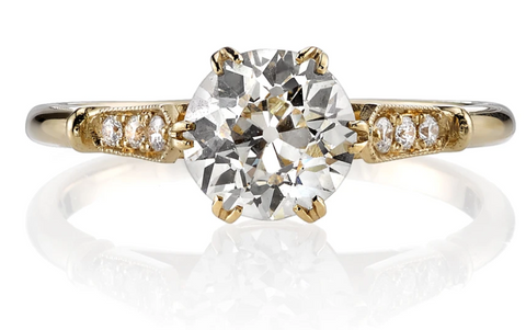 "18K Yellow Gold and Diamond Solitaire ""Emerson"" Engagement Ring"
