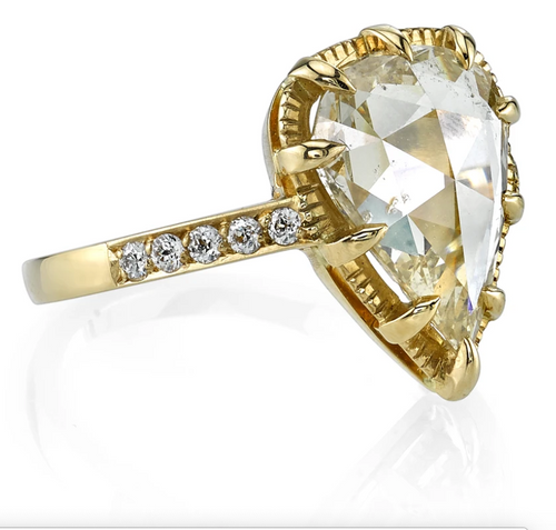 "Pear Diamond ""Andie"" Engagement Ring"