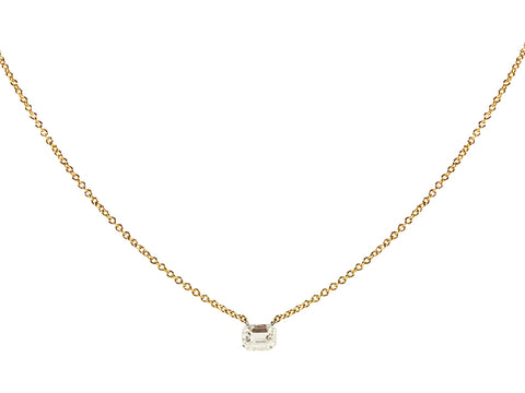 14K Yellow Gold and Diamond Necklace