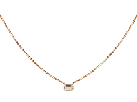 Out of Line Diamond Necklace