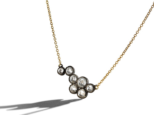 Inverted Diamond Pendant Necklace
