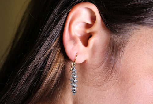 Inverted Diamond Drop Earrings