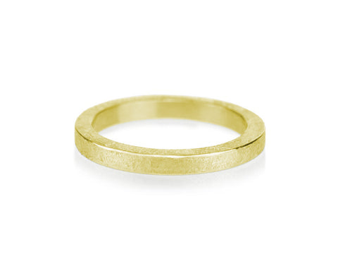 "18K Grey Gold Men's ""Zig Zag"" Wedding Band"