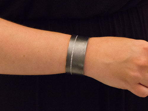 Silver and Diamond Energy Bracelet