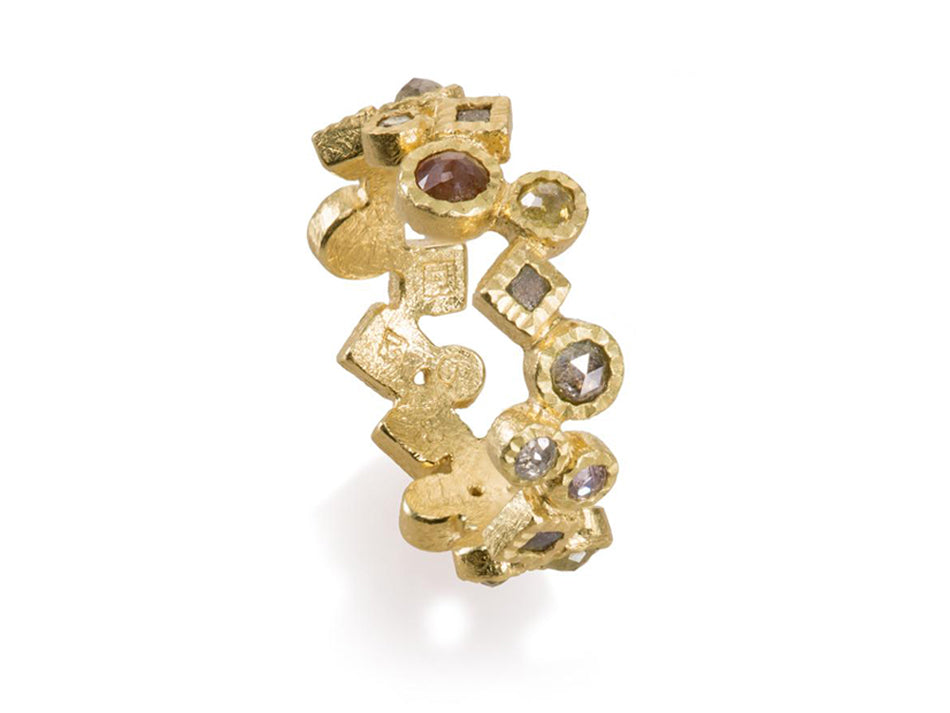 Todd Reed 18K Yellow Gold and Diamond Ring in Washington DC
