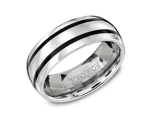 Tungsten and Enamel Men's Wedding Band at the Best Jewelry Store in Washington DC