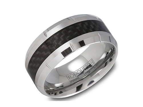 Tungsten and Carbon Fiber Men's Wedding Band at the Best Jewelry Store in Washington DC