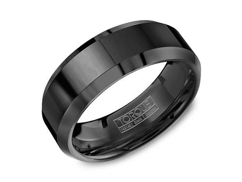 Black Ceramic Men's Wedding Band
