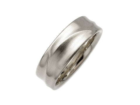 Palladium, Sterling Silver and Diamond Men's Wedding Ring
