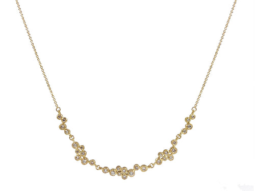 Yasuko Azuma 18K Yellow Gold and Diamond Necklace