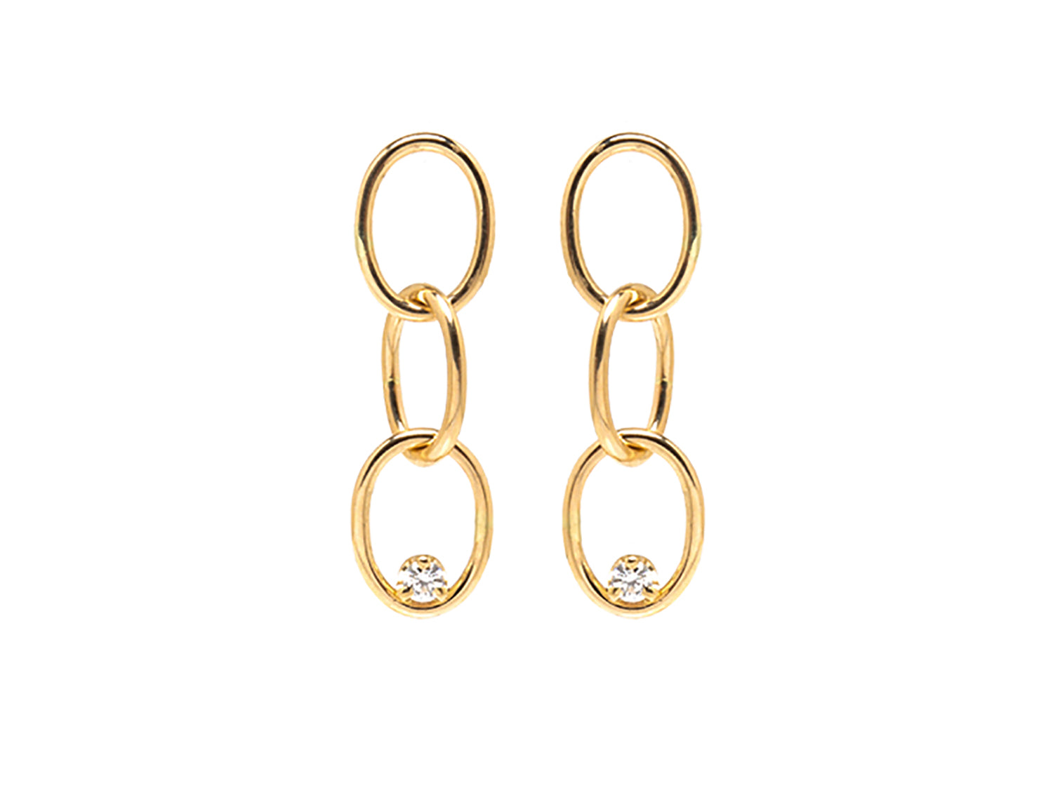 Diamond Chain Link Earrings