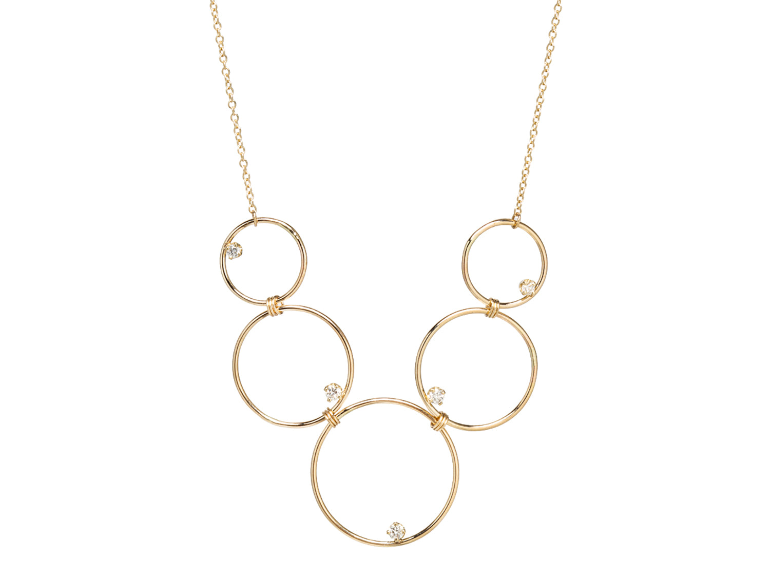 """Prong Diamond in a Circle"" Necklace"
