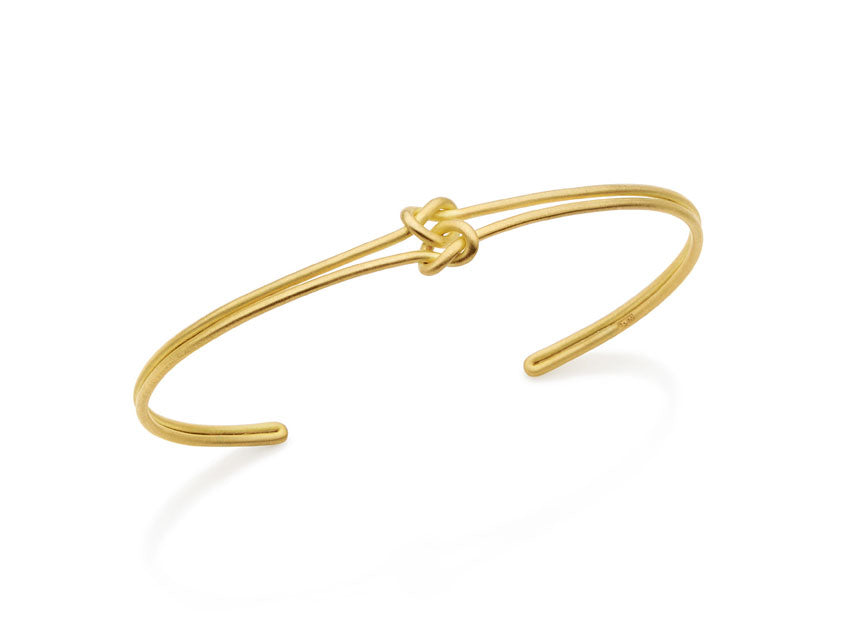 "18K Yellow Gold ""Love Knot"" Cuff Bracelet"