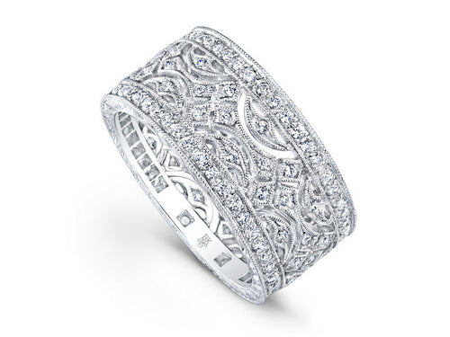 Beverly K White Gold and Diamond Wedding Band