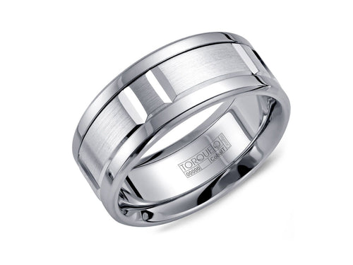 White Cobalt Men's Wedding Band in Washington DC